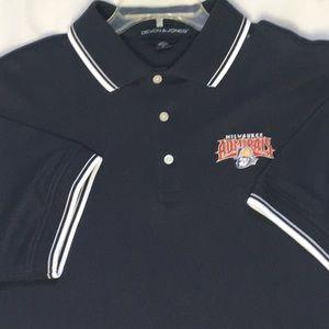 Milwaukee Admirals Hockey Large Navy Polo Shirt